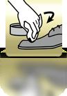 Schuhcreme mit Tuch auftragen - EN