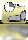 15 Minuten einwirken lassen (Wildleder) - ES