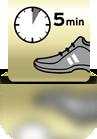 5 Minuten einwirken lassen (Sportschuh) - ES