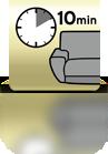 10 Minuten einwirken lassen (Sofa) - ES