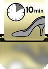 10 Minuten einwirken lassen (Damenschuh) - ES